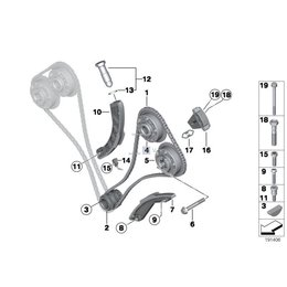 Uszczelka szyny rozrządu BMW E53 X5 E60 E61 E63 E64 E65 E70 645 650 540 545 550 735 740 745 750 760 - 11317501735