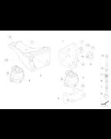 Poduszka silnika BMW E60 520i 523i 525i 530i - 22116761089
