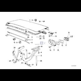 Uszczelka pokrywy bagażnika BMW E30 316 318 320 323 325 - 51711884149