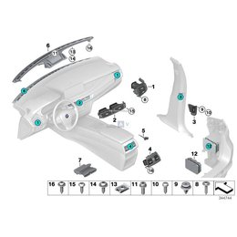 Spinka do boczków E36 E46 E38 E39 X6 BMW - 51411973500