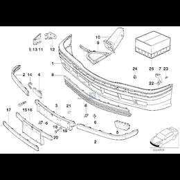 Kanał powietrza przód prawy BMW E36 316 318 320 323 325 328 M3 - 51718156252