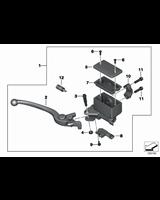 Armatura hamulca ręcznego przedn. koła - 32727725222