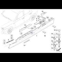 Dla samochodów z Pakiet areodynamiczny M, Zaczep - 51717836735