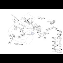 Uszczelka komory silnika - 51717013744