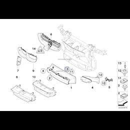 Kanał powietrza górny BMW E81 E87 E88 E82 116 118 120 123 125 130 135 - 51747189263