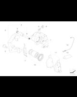 Klocki hamulcowe tył BMW E60 E61 E63 E64 520 520 525 530 630 - 34216763043