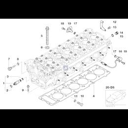 Kpl. śrub do głowicy silnika - 11127831862