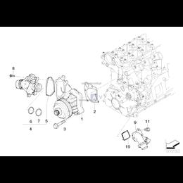 Pompa wody BMW E87 E90 E60 X3 X5 X6 - 11517805808