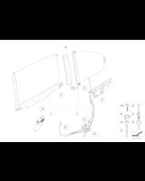 Adapter rolety przeciwsłonecznej, lewy - 51167059517