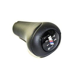 Gałka biegów M skóra 5 biegów BMW E36 E46 E39 E38 E60 X5 X3 - 25117503231