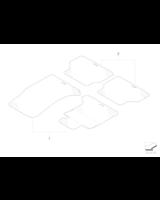 Kpl. dywaników gumowych, tył - 51470307691