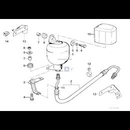 Przewód elastyczny ciśnieniowy lewy - 37132226818