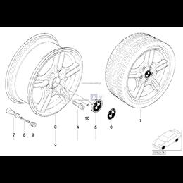 Obręcz koła aluminiowa - 36112229035