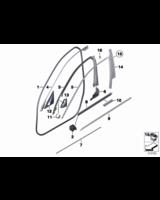 Osłona trójkąta lusterka prawa BMW F10 F10N F11 F11N 520 518 523 525 528 530 535 550 M5 - 51337182014