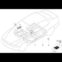 Elementy mocujące wykładzinę BMW E32 E34 E36 E38 E39 E65 E85 E86 Z3 - 51472263062