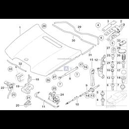 Uszczelka pokrywy silnika, przednia - 51717061915