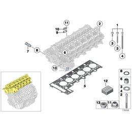 Śruby aluminiowe głowicy BMW E60 E61 E63 E64 E65 E70 E81 E83 E87 E84 E90 E91 F01 F10 F11 F25 N52N N53 N52 - 11120392547