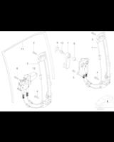 Podnośnik elektryczny szyby tył lewy BMW E39 520 523 525 528 530 535 540 M5 prod. do 03.1999r - 51358159835