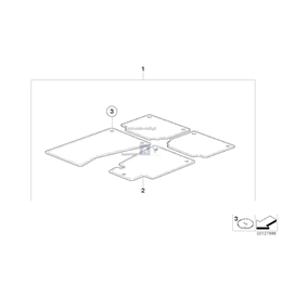 Komplet dywaników welurowych BMW E60 E61 - 51479117181