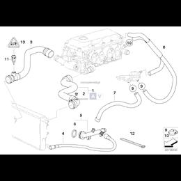 Przewód elastyczny układu chłodzenia BMW E46 316i 318i M43 - 11531436368
