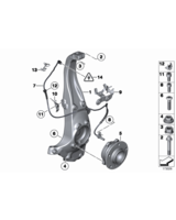 Czujnik impulsów ABS DSC przód BMW F01 F02 F06 F07 F10 F11 F12 F13 - 34526853859