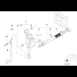 Przewód odpowietrzający odmy BMW E38 E39 735i 740i 535i 540i M62 - 11151705301