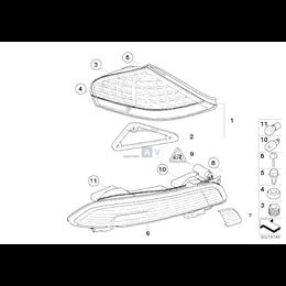 Kpl. uszczelki lampy tylnej - 63216942451