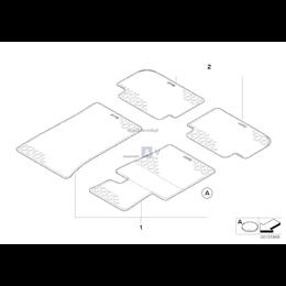 Kpl. dywaników gumowych, tył - 51470427560