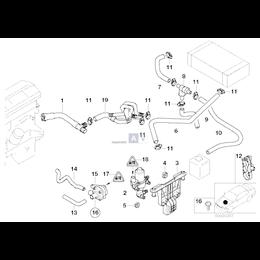 Przewód elastyczny układu chłodzenia - 11531438634