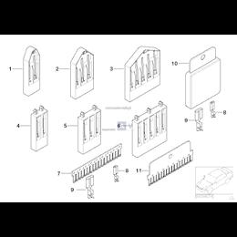 Obudowa izolacyjna wtyczki BMW E36 E46 E38 E39 E53 E60 E61 E63 E64 E65 E70 E71 E83 F25 Z3 - 61131393766
