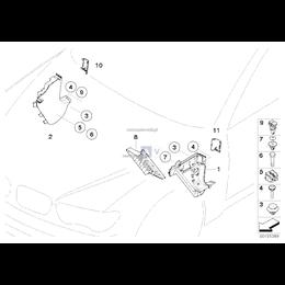 Klamra listwy progu BMW E34 518 520 525 530 535 M5 - 51478234047