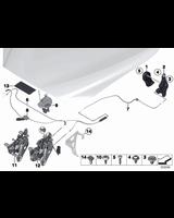Cięgno linka maski tylne BMW F01 F06 F07 F10 F11 F12 F13 640 650 M6 518 520 525 530 535 550 M5 730 740 750 - 51237255801