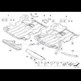 Uchwyt osłony silnika BMW E81 E87 E90 E91 E92 E93 E84 X1 - 51757128501
