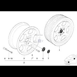 Obręcz koła aluminiowa - 36112227895