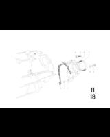 8-otworowy wał korbowy, Pokrywka zamykająca - 11121252130