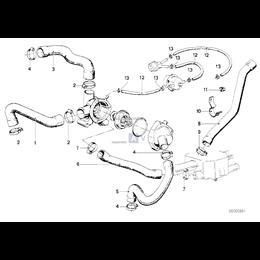 Przewód elastyczny układu chłodzenia - 11531268032