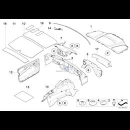 Izolacja dźwiękowa przedz. silnika, le. - 51487049177