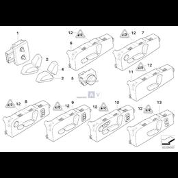 Przełącznik regul. fotela przedni lewy - 61316950769