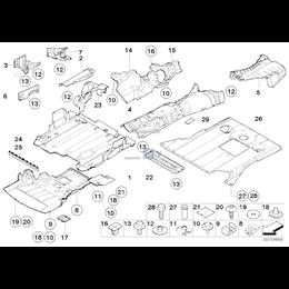 Pokrywa zaślepka osłony silnika BMW E46 E85 Z4 318d 320d 330d 318i M47 M57 N45 N46 N42 - 51617199687