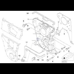 Uszczelka pokrywy rozrządu BMW E30 E36 318is 318ti M44 M42 - 11141247849