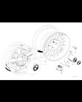 Akcesoria dodatkowe, Obręcz koła aluminiowa - 36111117425