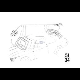 Uszczelka szyby przód BMW Isetta NK 700 E10 114 1502 1600 1602 1802 1800 2000 2002 - 51311803265