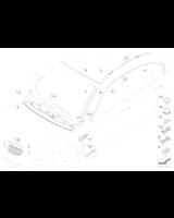 Atrapa nerka prawa chrom/czarna BMW E90N E91N 316 318 320 323 325 328 330 335 M3 - 51137201968