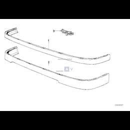 Zacisk zatrzask mocowanie spoilera przód BMW E30 316i 318i 320i 325i - 51711979334