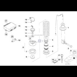 Poduszka amortyzatora tył BMW E38 725 728 740 730 735 z EDC - 33521090309