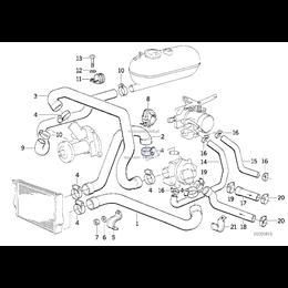 Przewód elastyczny układu chłodzenia - 11531265448