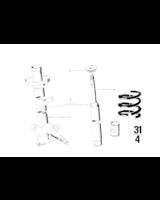 Amortyzator przedni lewy - 31311108949