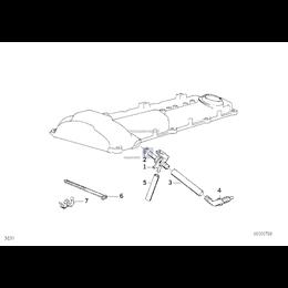 Przewód odpowietrzenia skrzyni korbowej BMW E34 E36 520i 525i 320i 325i M3 - 11151726828