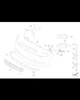 Dokładka zderzaka przód MPerformance BMW E81 E87 E82 E88 116 118 120 123 125 128 130 135 - 51750432379