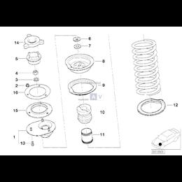 Podkładka sprężyny górna - 31332227901